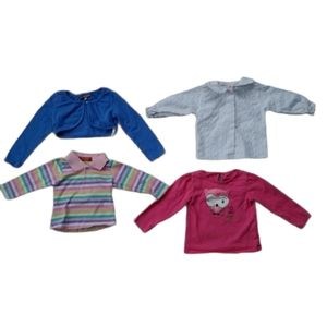 Lot of 4 Long Sleeved Shirts & Cardigans, 18-24m